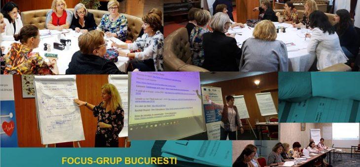 Focus-grup-uri organizate in cadrul proiectului RENASC